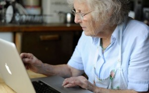 Older person at the computer